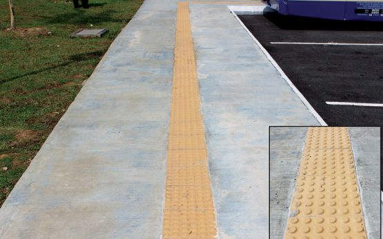 picture of tactile path