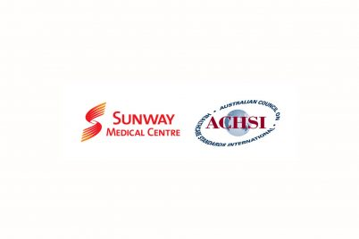 logos of Sunway Medical Center and ASHSI