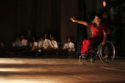 A disabled girl performing an amazing dance.