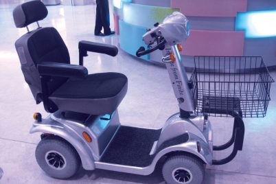 battery-operated scooter