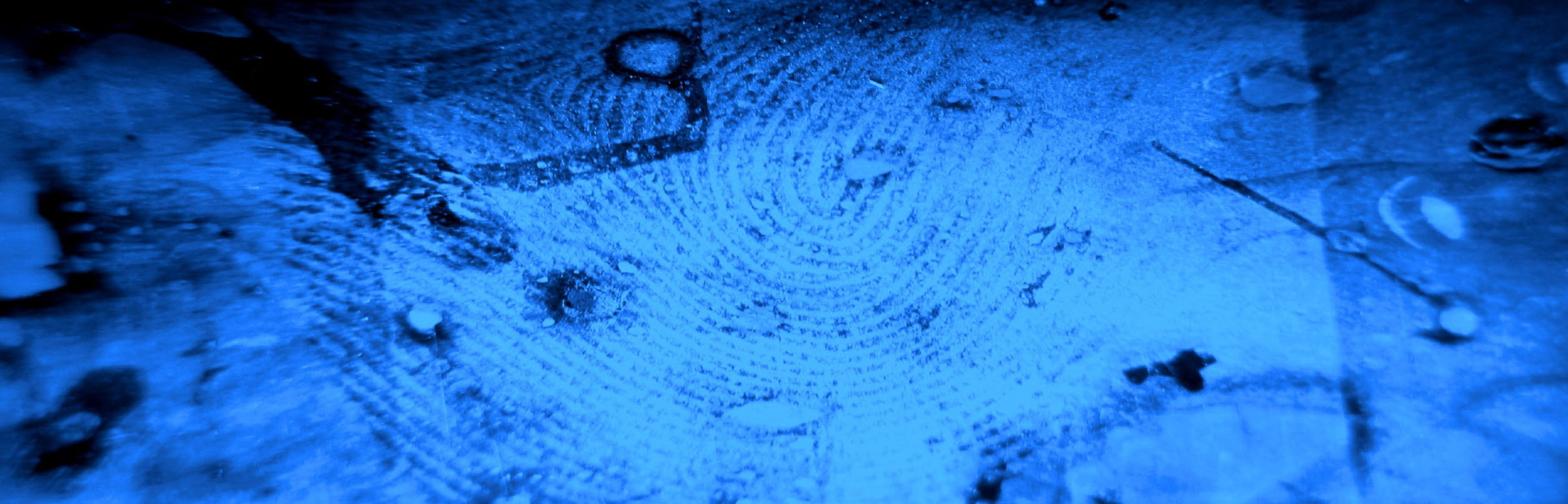 Picture of fingerprints left at scene of buglary