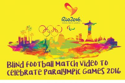 FC Barcelona Footballers in Blind Football Match Video to celebrate Paralympic Games 2016