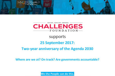 Challenges Foundation supports global #Act4SDGs campaign