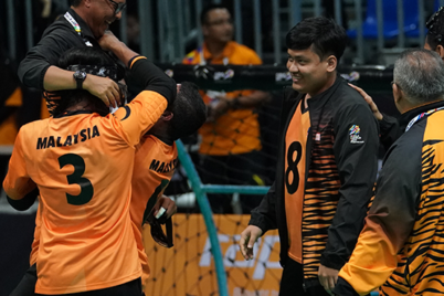 gold for malaysian men goalball team
