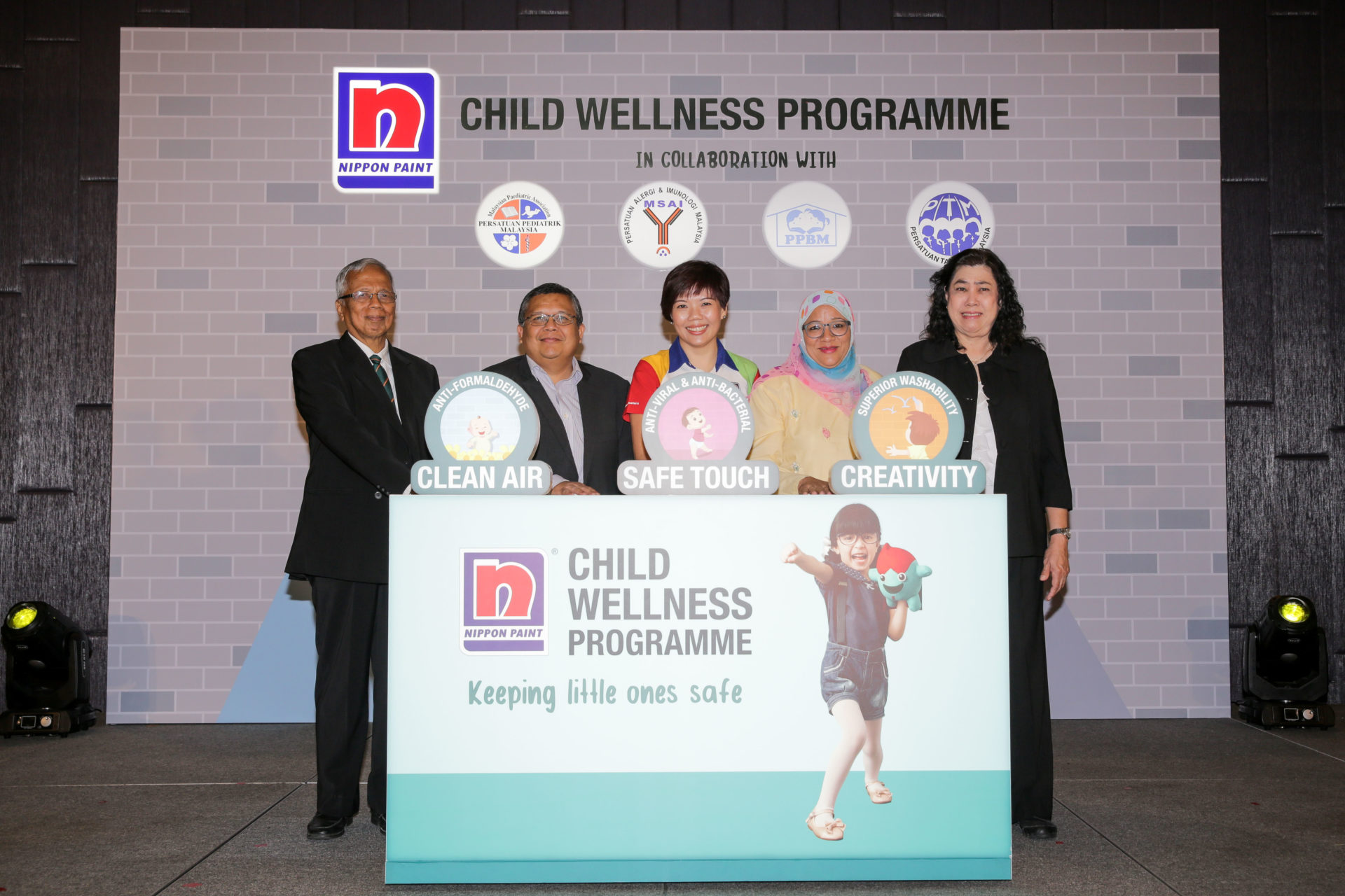 group photo of partners for the Nippon child wellness programme