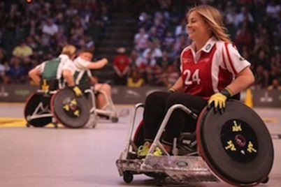 Photo of wheelchair users exercising