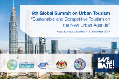 Picture announcing the 6th Global Summit on Urban Tourism
