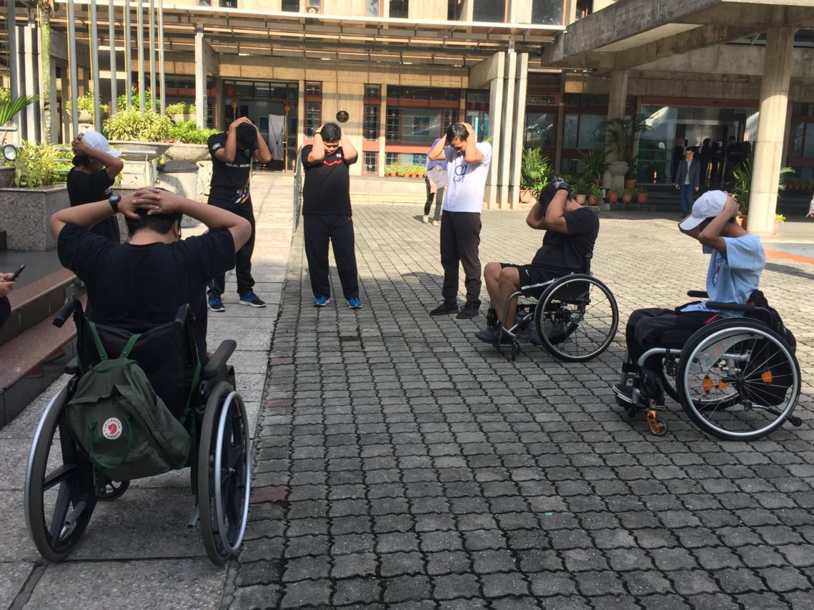 weekly wheelchair exercises at Sports Disability research centre um