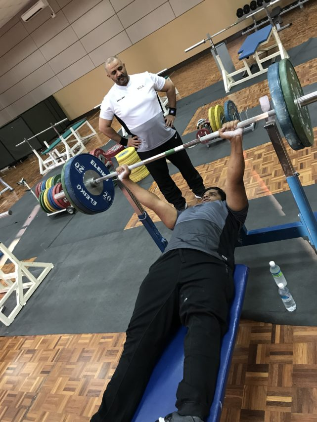 saudi powerlifter training in KL